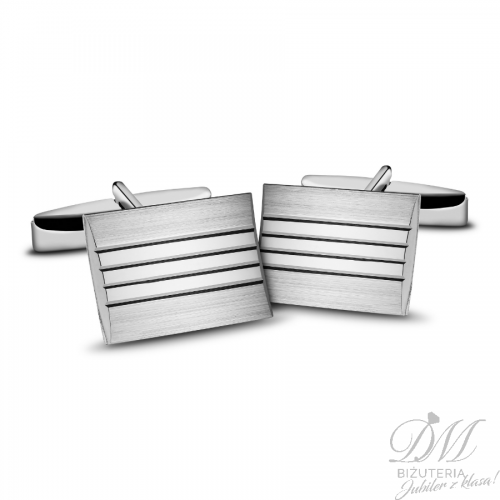 Spinki do mankietów srebrne zdobione