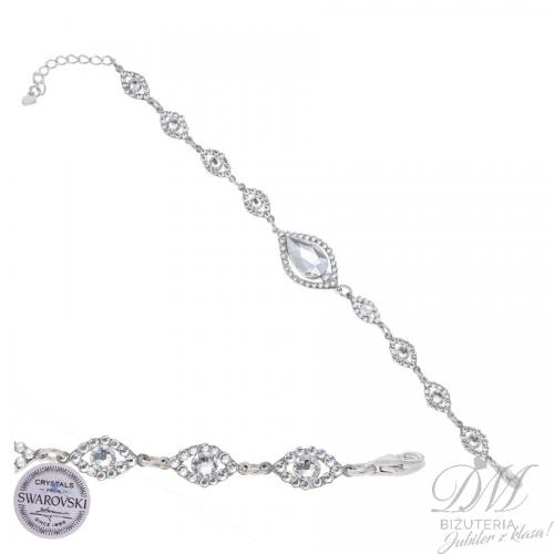 Lśniąca bransoleta z Kryształów Swarovski