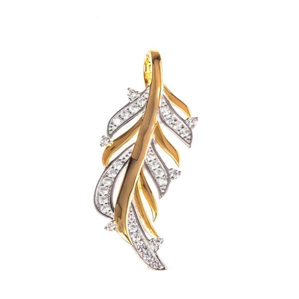 Srebrna przywieszka w kształcie liścia