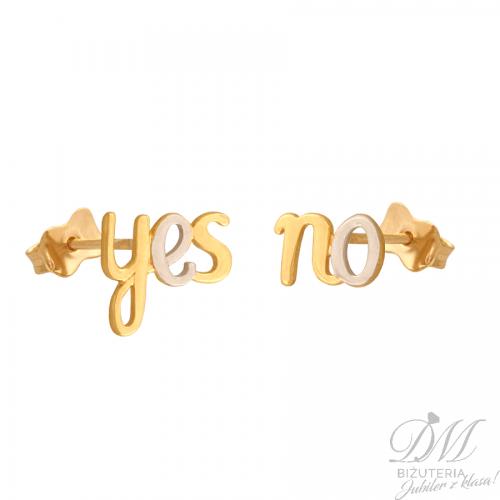 Zabawne kolczyki ze złota yes no