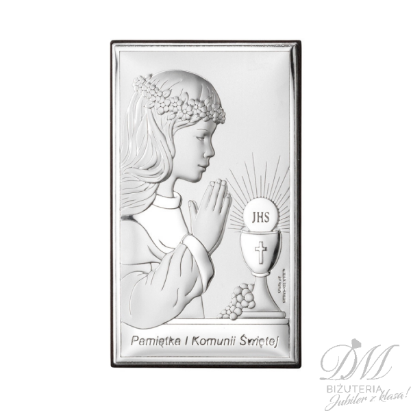 Obrazek srebrny dziewczynka pamiątka