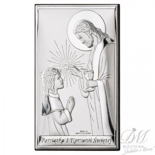 Obrazek srebrny dla dziewczynki na prezent