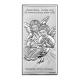 Obrazek srebrny z Aniołkami nad dzieckiem Chrzest