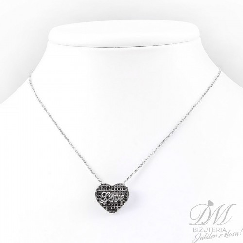 Srebrny naszyjnik z sercem