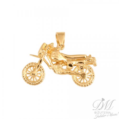 Piękny złoty motocykl - jedyny taki
