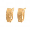 Złote kolczyki zdobione