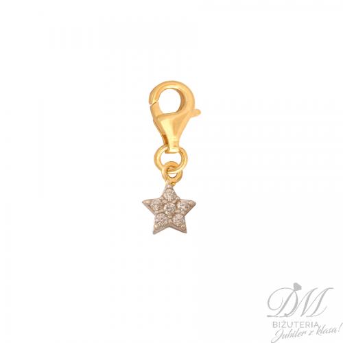 Złota przywieszka maleńka gwiazdka charms