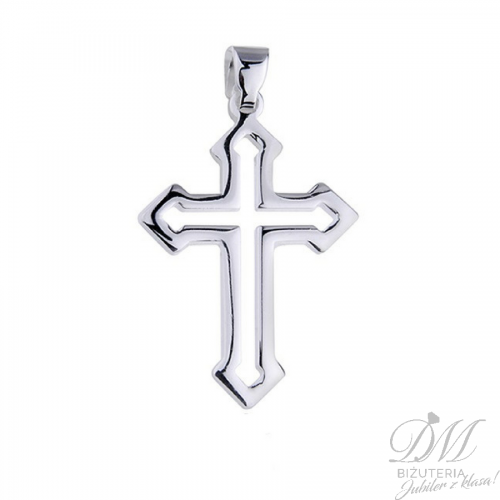 Srebrny Krzyżyk nowoczesna forma