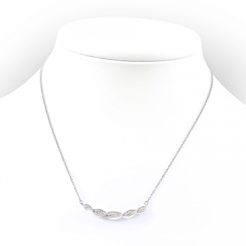 Srebrny naszyjnik z cyrkoniami