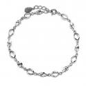 Delikatna bransoletka ze srebra z diamentowaniami