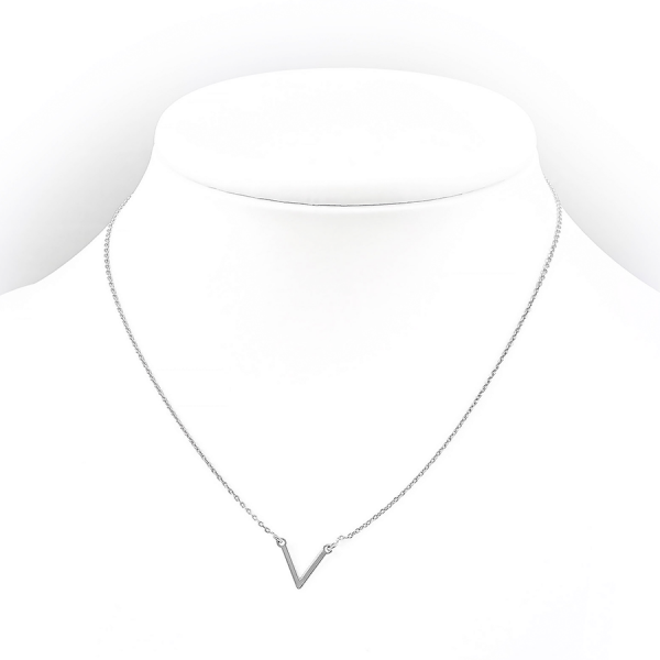 Delikatny, srebrny naszyjnik