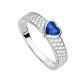 Srebrny pierścionek z szafirowym serduszkiem