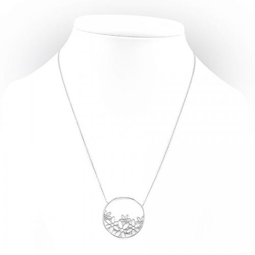 Naszyjnik ze srebra z ażurowym kołem