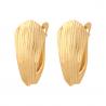 Złote diamentowane kolczyki na prezent