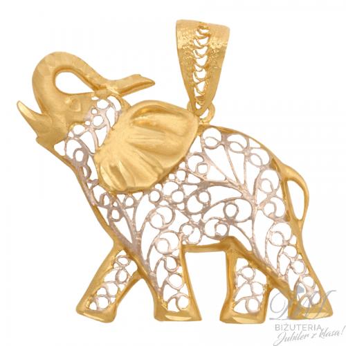 Piękny słonik ażurowy na szczęście