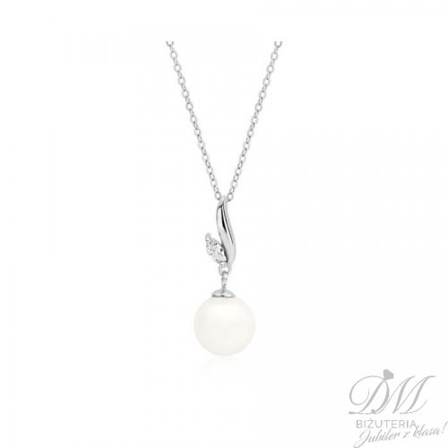 Srebrny naszyjnik z delikatną perłą
