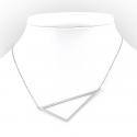 Srebrny naszyjnik - trójkąt