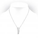 Srebrny naszyjnik o ciekawym kształcie