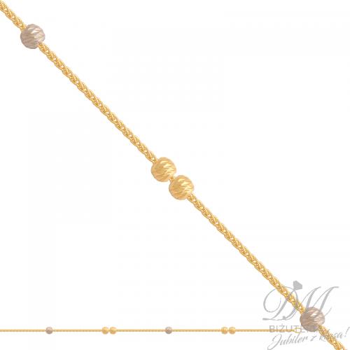Przepiękna bransoleta z diamentowanymi kuleczkami