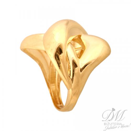Finezyjny złoty pierścionek na prezent
