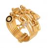 Pierścionek złoty z zawieszkami hit