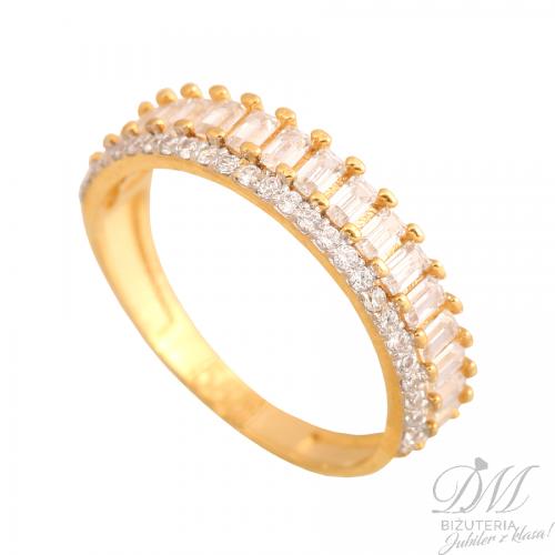 Lśniący złoty pierścionek hit