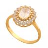 Pierścionek złoty bogato zdobiony na prezent