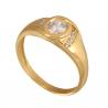 Klasyczny złoty pierścionek z cyrkonią