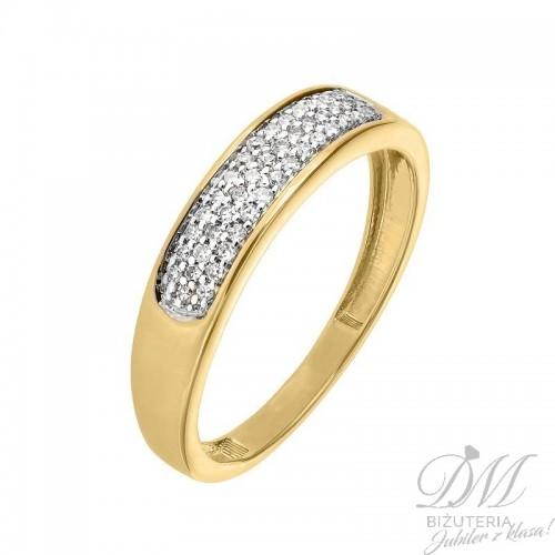 Lśniący pierścionek z brylantami