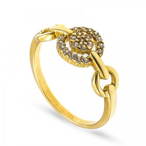 Lśniący złoty pierścionek