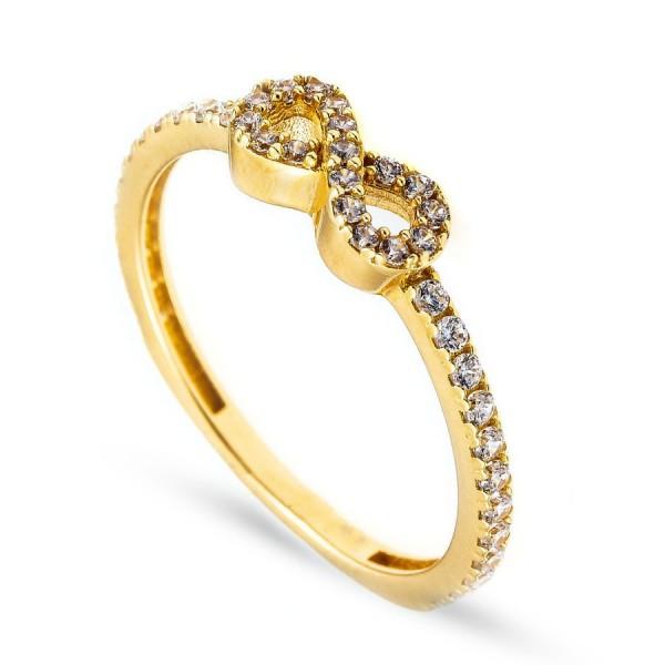 Złoty pierścionek - znak nieskończoności