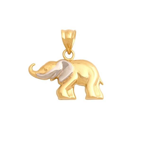 Złota przywieszka - słonik