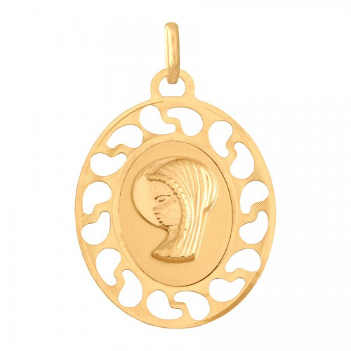 Śliczny medalik - Matka Boska