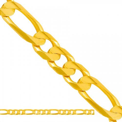 Okazały złoty łańcuszek figaro