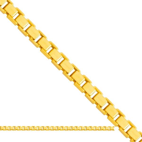 Złoty łańcuszek - klasyczna kostka
