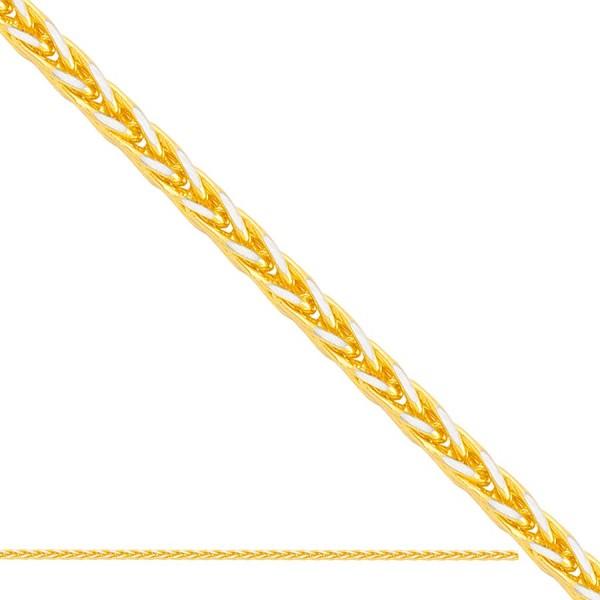 Złoty łańcuszek - lisi ogon diamentowany