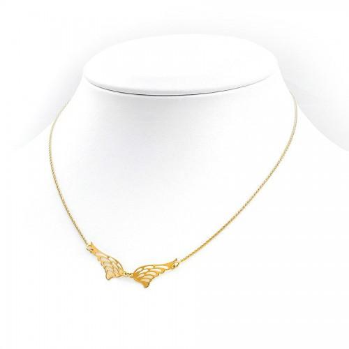 Niezwykle piękny złoty naszyjnik skrzydełka