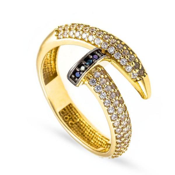 """Nowoczesny złoty pierścionek """"gwóźdź"""""""