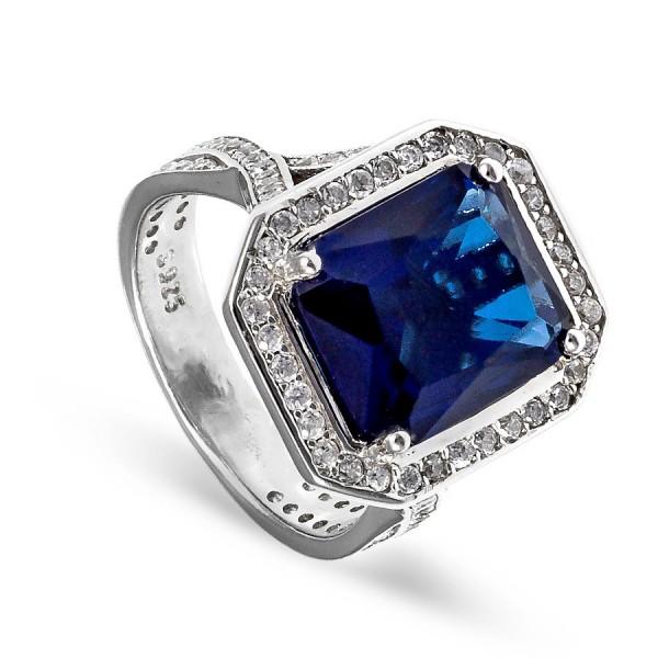 Elegancki pierścionek z szafirem