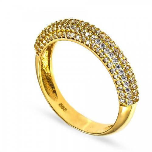 Efektowny pierścionek z delikatnymi kamieniami