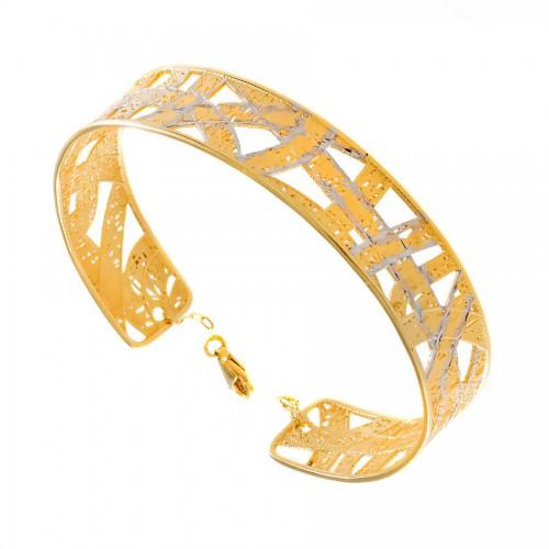 Bardzo elegancka bransoleta z 14-to karatowego złota