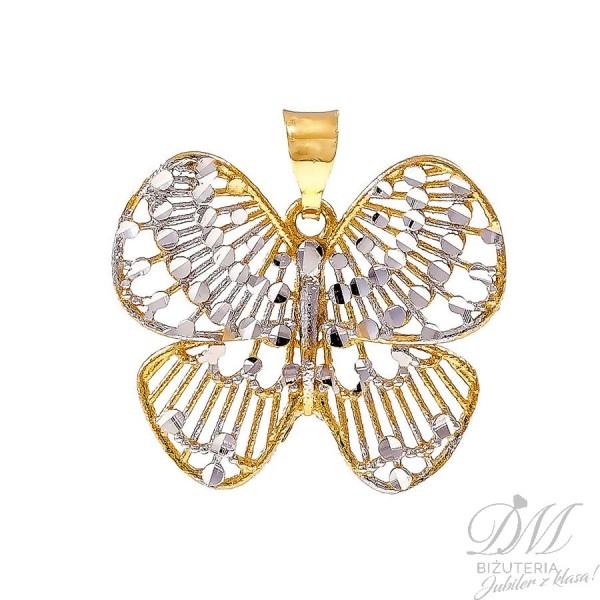 Dwukolorowy złoty motyl