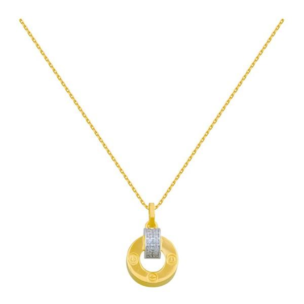 Złoty naszyjnik z efektowną przywieszką