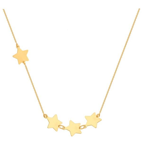 Efektowny złoty naszyjnik z gwiazdkami