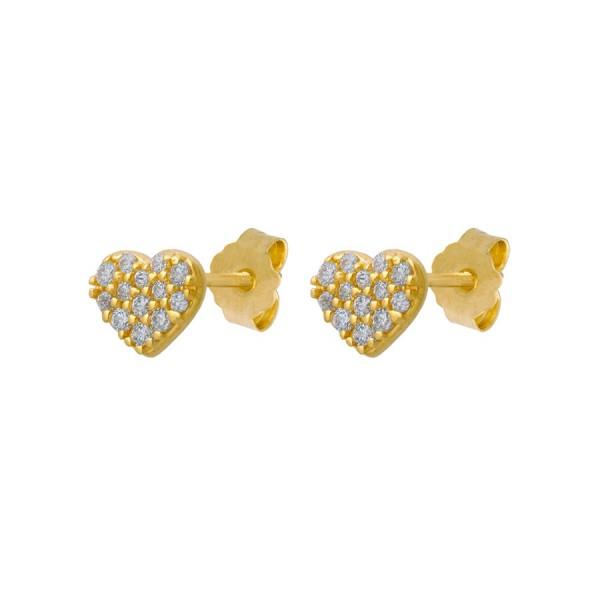 Przepiękne złote kolczyki serduszka