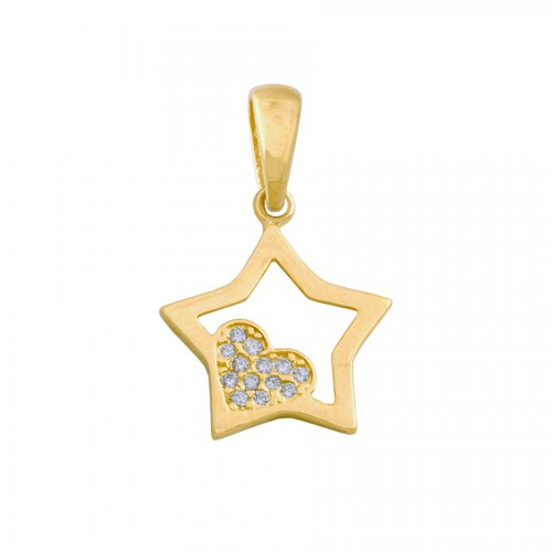 Przepiękna złota przywieszka gwiazdka
