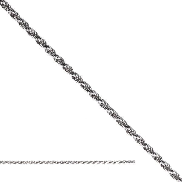 Srebrny łańcuszek - splot kordel