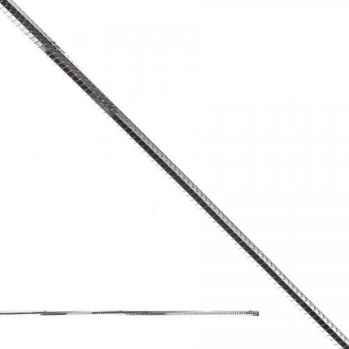 Elegancki srebrny łańcuszek - linka