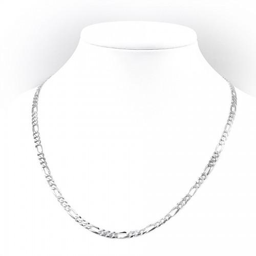 Klasyczny srebrny łańcuszek - figaro