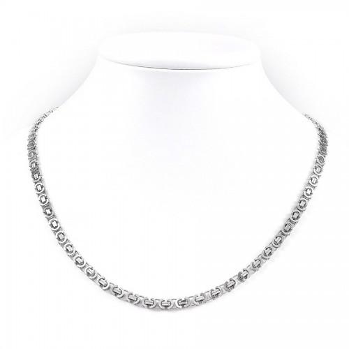 Okazały srebrny łańcuszek - wyjątkowy splot